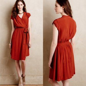 Anthropologie Maeve Noronha Wrap Dress Belted M